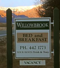 Our B & B sign at the gate